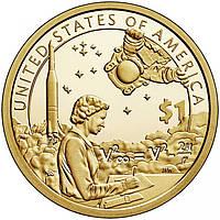 США 1 долар 2019, Сакагавея: Індіанці в космосі (космічна програма), D