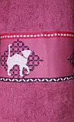 Полотенце махровое  Кот (розовый)