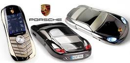 Мобильный телефон машинка Vertu Porsche 977 копия 2 сим металлический корпус детский