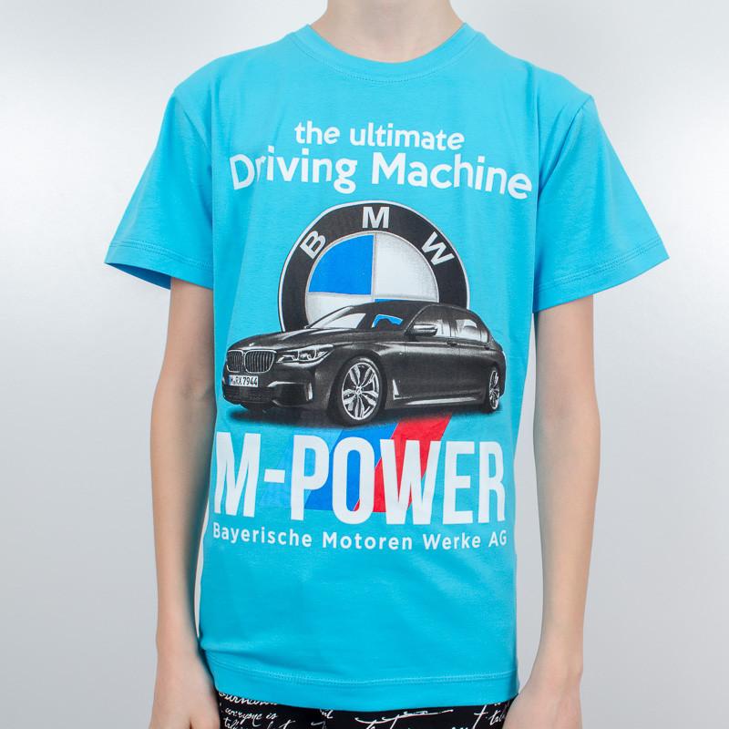 """Футболка подростковая Валимарк, голубой, """"BMW 19п038"""""""