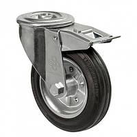 Колеса поворотные с отверстием и тормозом Диаметр: 75мм. Серия 31 Norma , фото 1