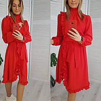 Платье красивое красное длина миди