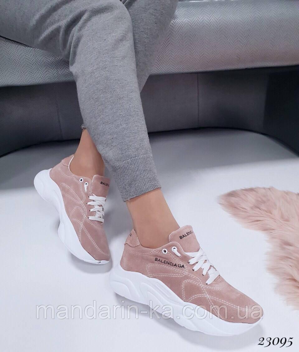 Женские кроссовки Balenciaga Баленсиага натуральная  кожа (реплика)