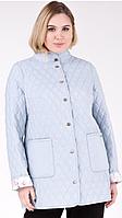 Куртка ветровка плащ женская стёганная длинная двухсторонняя демисезонная большых размеров.