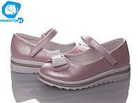 Туфельки для девочек  на платформе 1706-розовый, 31-36