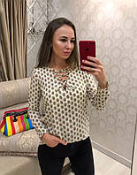 Блуза женская стильная со шнуровкой разные расцветки Bvv294, фото 1