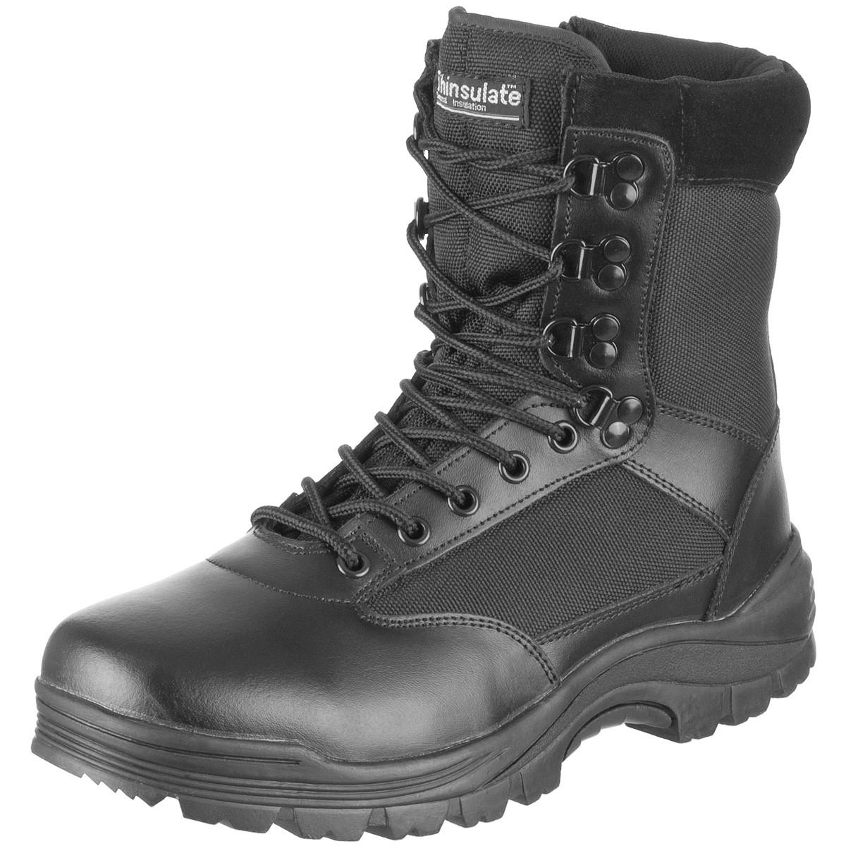 Ботинки тактические MIL-TEC с застежкой-молнией демисезон черные