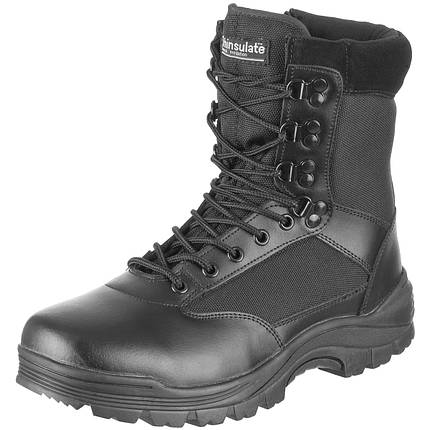 Ботинки тактические MIL-TEC с застежкой-молнией демисезон черные, фото 2