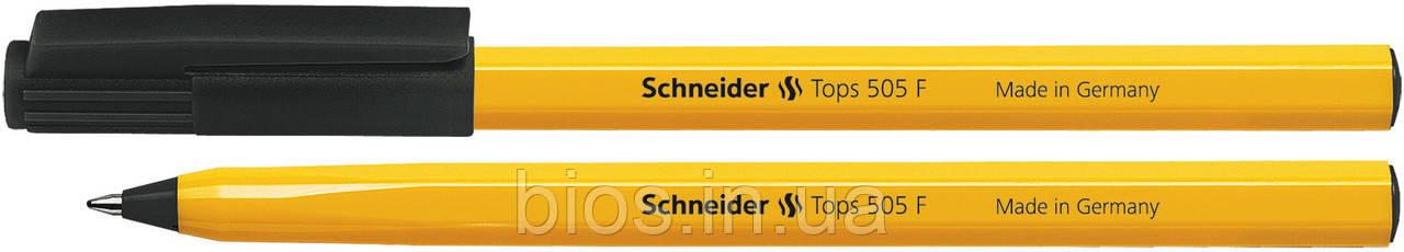 Ручка кул. SCHNEIDER TOPS 505 F 0,5 мм, чорн.