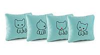 Подарочные подушки с вышивкой «Котята» флок