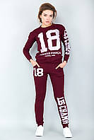 Спортивный костюм 18 (бордовый), фото 1