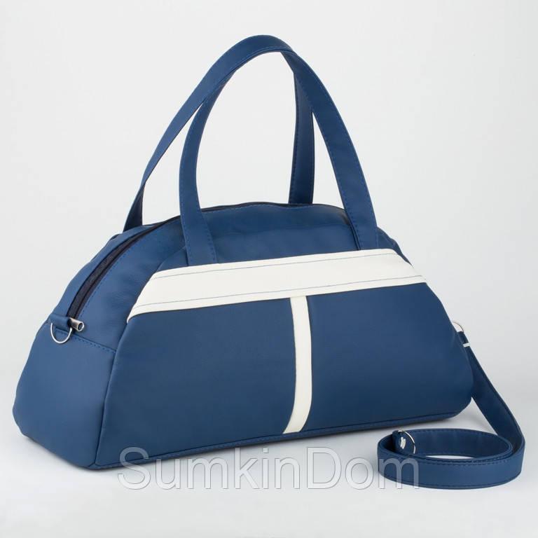 Спортивная сумка сине-белая флай, фото 1