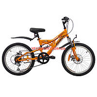 Детский велосипед Azimut Blackmount D 20 дюймов оранжевый