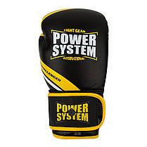 Перчатки для бокса PowerSystem PS 5005 Challenger Black/Yellow, фото 2