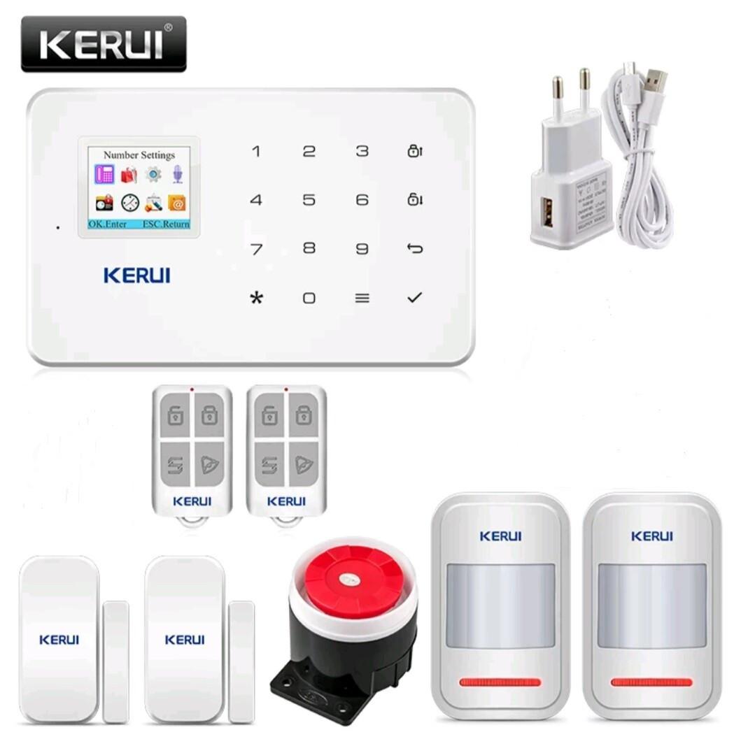 Бездротова GSM сигналізація Kerui G18 російське меню. Комплект 2