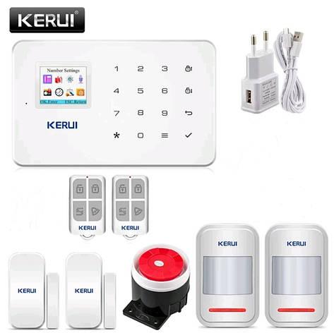 Бездротова GSM сигналізація Kerui G18 російське меню. Комплект 2, фото 2