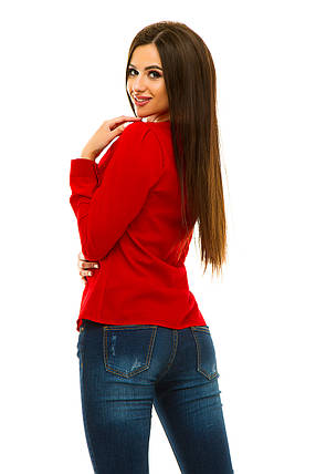 Блузка 233 красная, фото 2