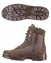 Ботинки тактические MIL-TEC с застежкой-молнией демисезон коричневые, фото 3