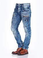 Джинсы мужские со строчками и накладными карманами W29L32 Cipo&Baxx