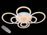 Потолочная LED-люстра с диммером и подсветкой, 200W, фото 1