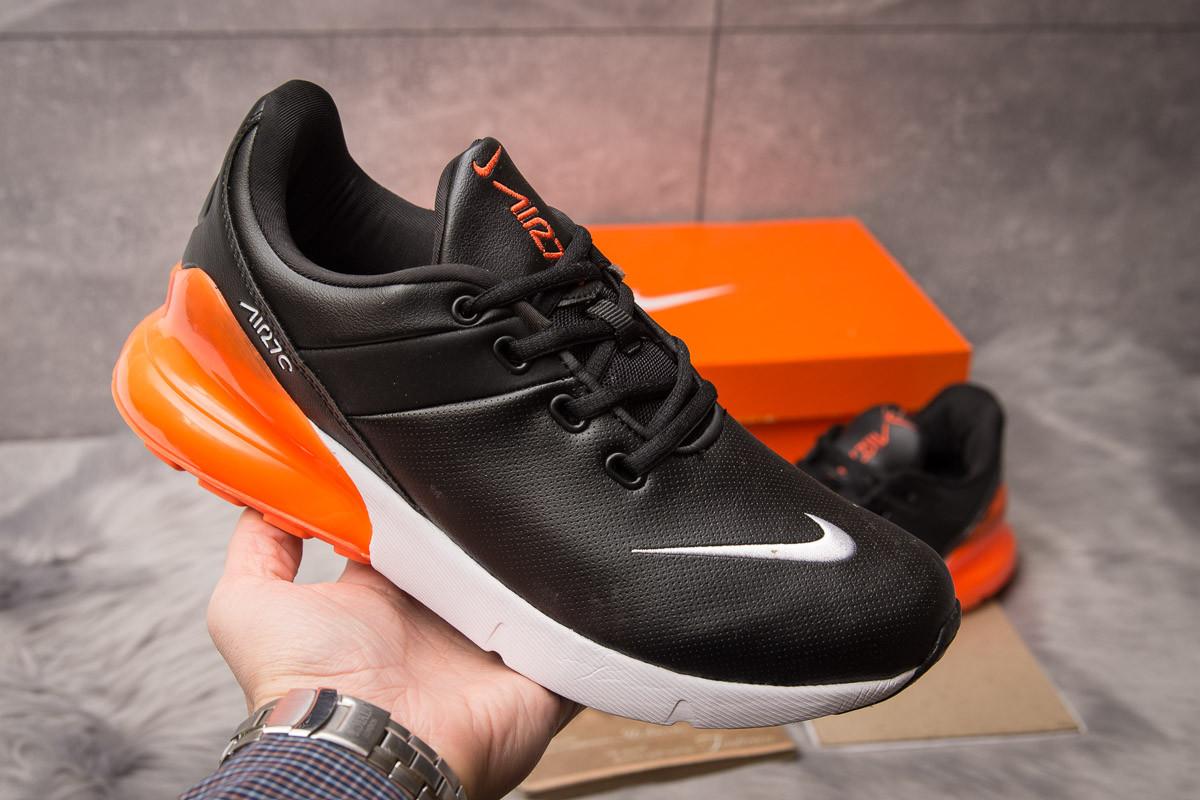 6a2425ab Кроссовки мужские Nike Air Max 270, черные с оранжевым / кросівки чоловічі  Найк (Топ