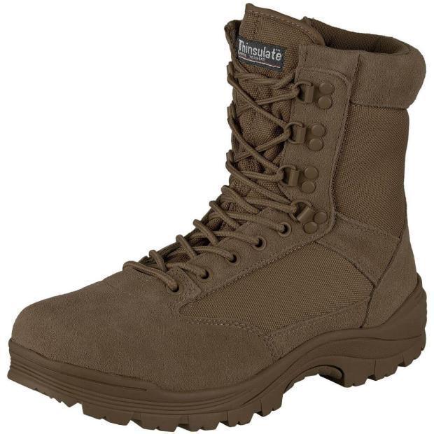 Ботинки тактические MIL-TEC с застежкой-молнией демисезон коричневые