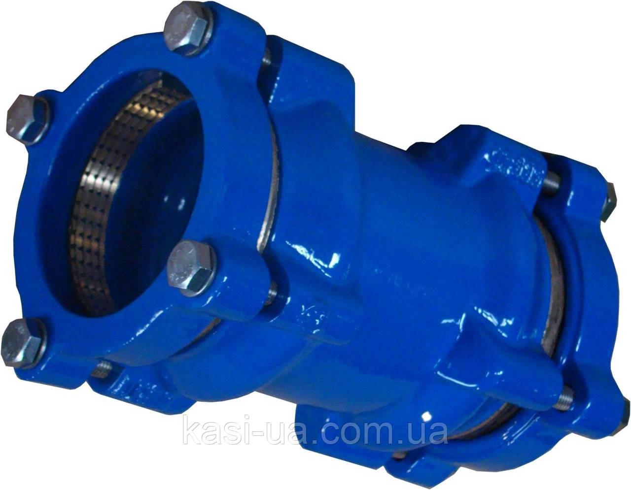 Муфта соединительная для ПЕ/ПВХ труб тип 9123 JAFAR, чугун GGG50, DN 50 Dz 63