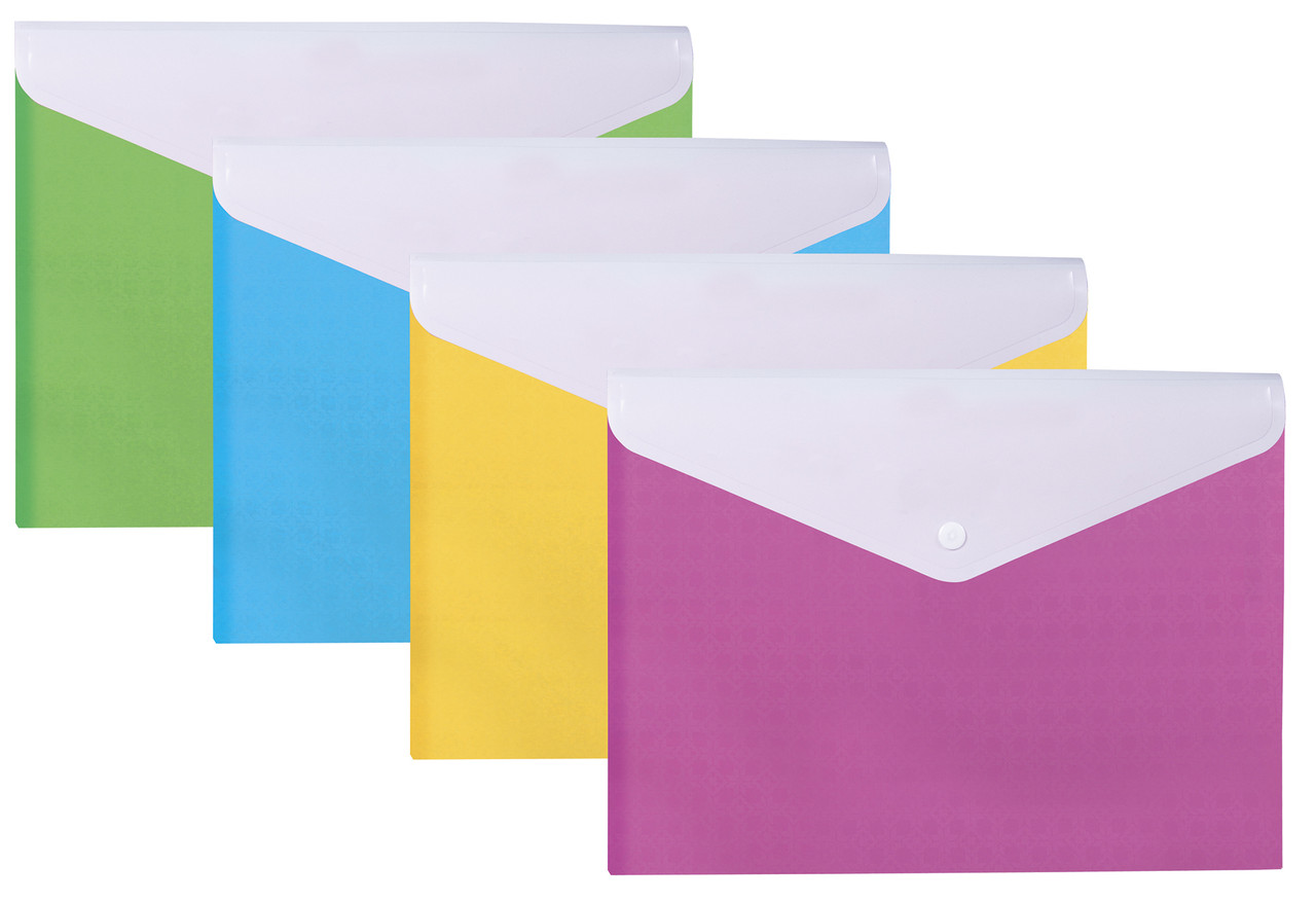 """Папка-конверт А4 """"Вишиванка"""" на кнопці, на 2 відділення"""