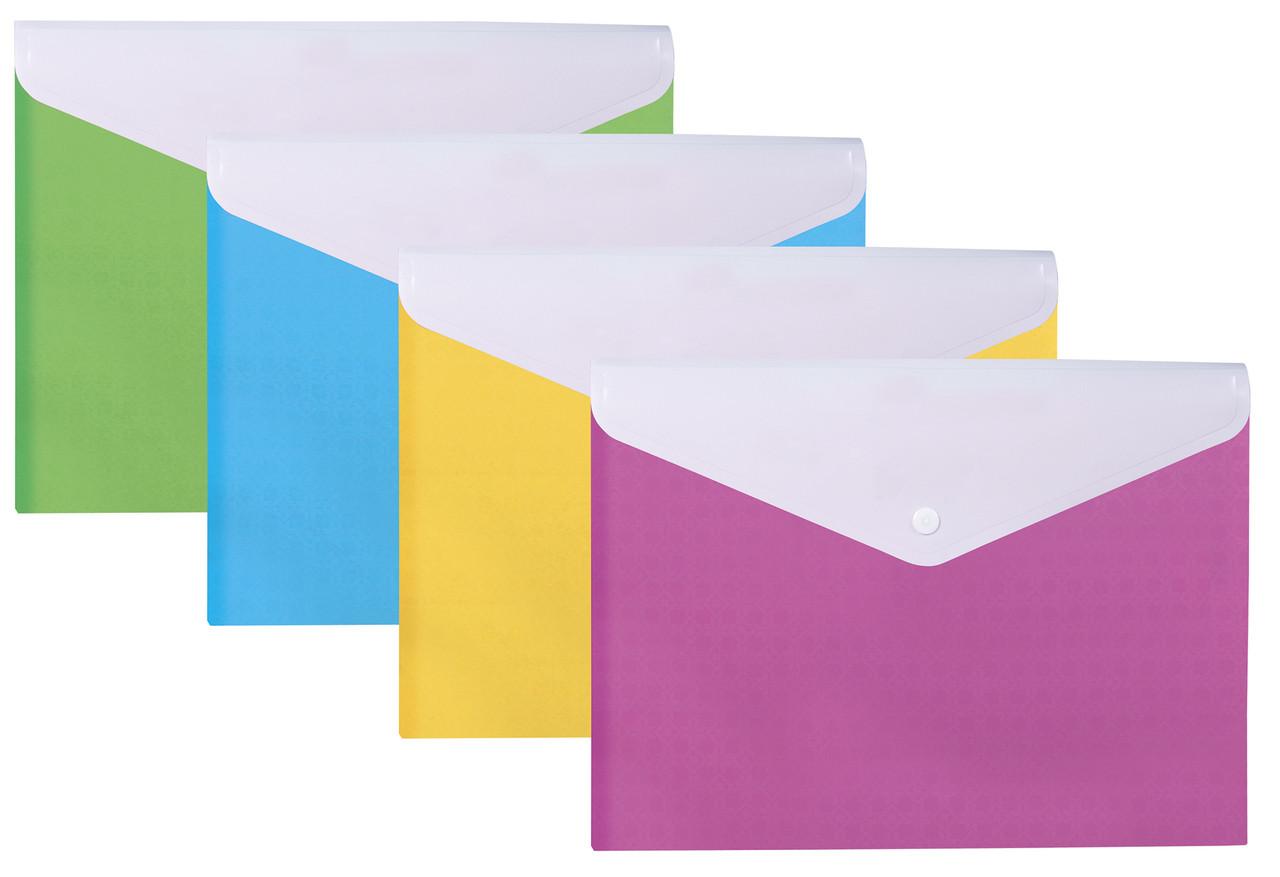 """Папка-конверт а4 """"вышиванка"""" на кнопке, на 2 отделения"""