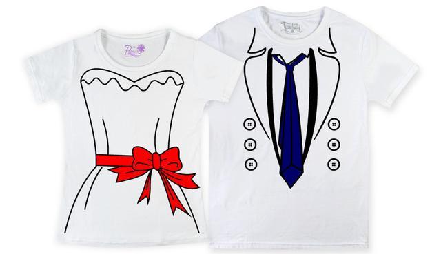 Парные футболки с надписью для влюбленных в Днепре