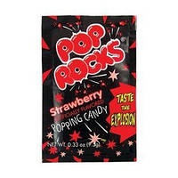 Шипучая карамель Pop Rocks Strawberry