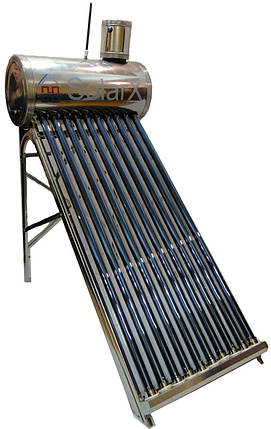 SolarX SXQP-250L-25 вакуумный солнечный коллектор напорный водонагреватель термосифонный на 25 трубок, фото 2