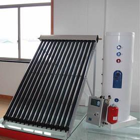 Гелиосистема SolarX-CY-150L-15 для ГВС и отопления на вакуумных коллекторах на 15 трубок на 150 л горячей воды для 3-х человек