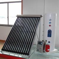 Гелиосистема SolarX-CY-300L-30 для ГВС и отопления на вакуумных коллекторах на 30 трубок на 300 л горячей воды для 6-х человек