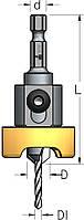 Зенковка с шестигранным хвостовиком и металлическим ограничителем D3,6/9,5, фото 1