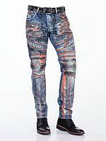 Джинсы мужские с краской и потертостями W30L32 Cipo&Baxx