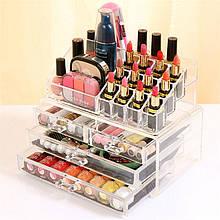 Настольный органайзер для косметики Makeup Container Storage Box 4 Drawer акриловый бокс