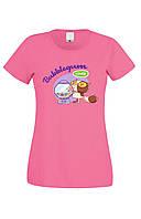 Футболка BUBBLEGUM женская розовая