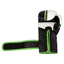 Перчатки для бокса PowerSystem PS 5006 Contender Black/Green Line, фото 3