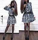 Платье леопардовое из софта Лео с поясом в комплекте (3 цвета), фото 6