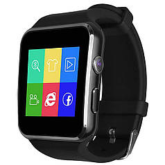 "★Смарт-часы UWatch X6 Black диагональю 1.5"" с изогнутым дисплеем USB 2.0 Sim card батарея 380 mAh Android"