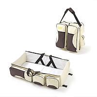 Багатофункціональна дитяча сумка-ліжко SUNROZ Baby Bed and Bag органайзер для подорожей Бежевий (SUN3600)