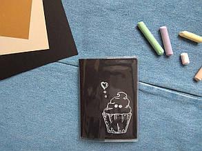 ПВХ обложка на паспорт ручной работы Тортик