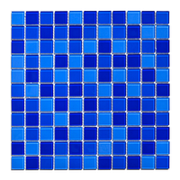 Мозаика для бассейна стеклянная Aquaviva Cristall Jamaika Dark DCM301