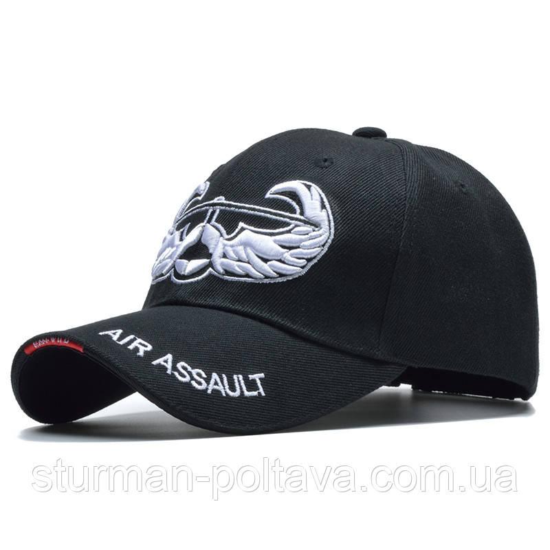 Бейсболка мужская   черная   с логотипом ВВС Авиация