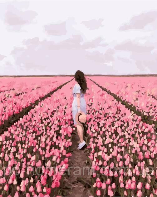 Brushme Premium раскраска Тюльпановое поле