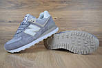 Женские кроссовки New Balance 574 серо-сиреневые + белая N, фото 6