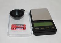 Весы карманные 6285, дискретность - 0,01 г, высокая точность, много функций + чашка для взвешиваний, 200 г