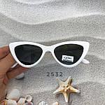 Модные черные ретро-очки с белой оправой, фото 4