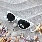 Модные черные ретро-очки с белой оправой, фото 2
